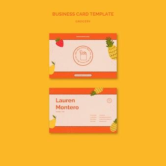 Sjabloon voor visitekaartjes van boodschappen bezorgservice