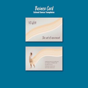 Sjabloon voor visitekaartjes van dans concept