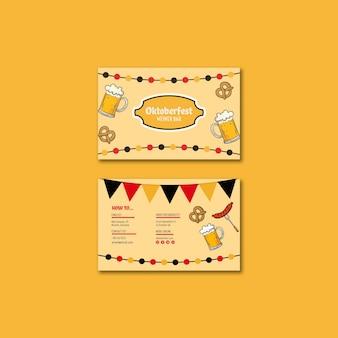 Sjabloon voor visitekaartjes van oktoberfest