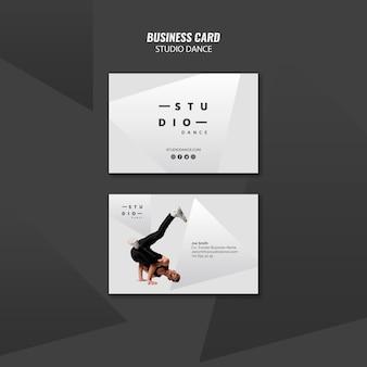 Sjabloon voor visitekaartjes van studio dance