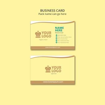 Sjabloon voor visitekaartjes van voedsel met logo