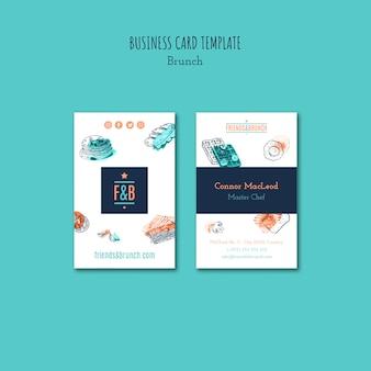 Sjabloon voor visitekaartjes voor brunch restaurant