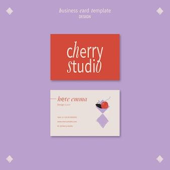 Sjabloon voor visitekaartjes voor grafisch ontwerper