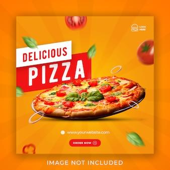 Sjabloon voor voedselpresentatie op sociale media