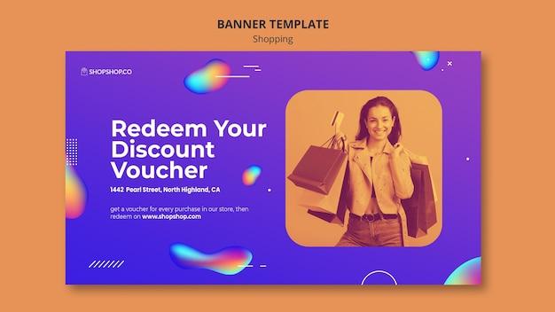 Sjabloon voor winkeladvertenties voor spandoek