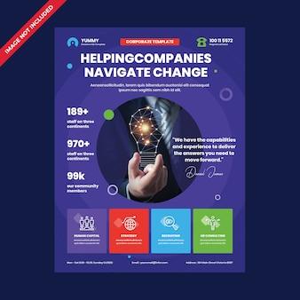 Sjabloon voor zakelijke corporate folders