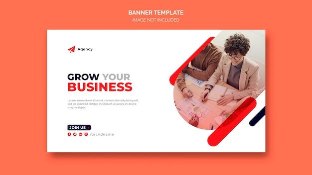 Sjabloon voor zakelijke marketing webbanners laten groeien