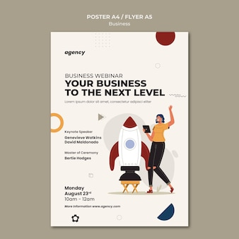 Sjabloon voor zakelijke webinar-posters