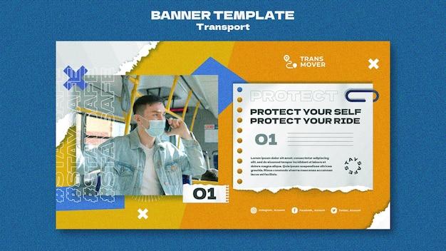 Sjabloonontwerp voor bannertransport