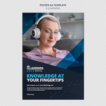 Sjabloonontwerp voor e-learningposters