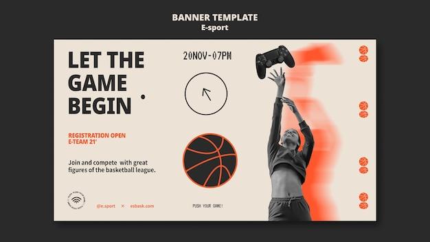 Sjabloonontwerp voor esport-banner