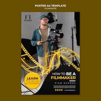 Sjabloonontwerp voor filmmaker-poster
