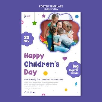 Sjabloonontwerp voor kinderdagposter