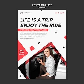 Sjabloonontwerp voor postertransport