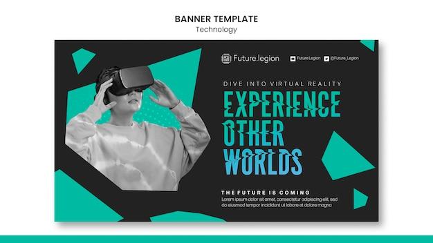 Sjabloonontwerp voor technologie-banner