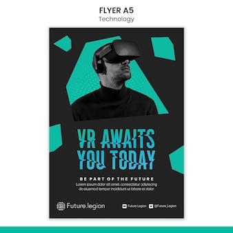 Sjabloonontwerp voor technologie-flyer