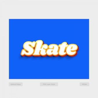 Skate 3d-tekststijleffect