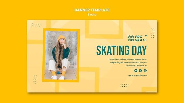 Skate concept sjabloon voor spandoek
