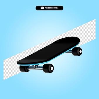 Skateboard 3d render illustratie geïsoleerd