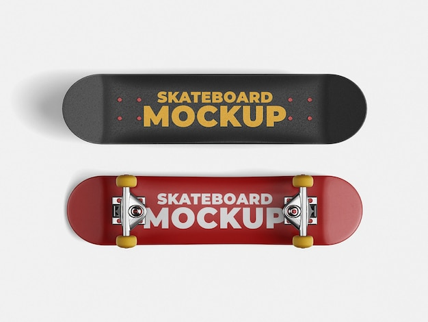 Skateboard mockup-sjabloon