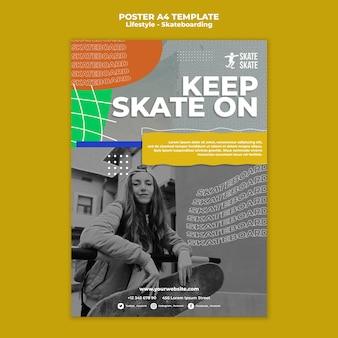 Skateboarden poster sjabloon