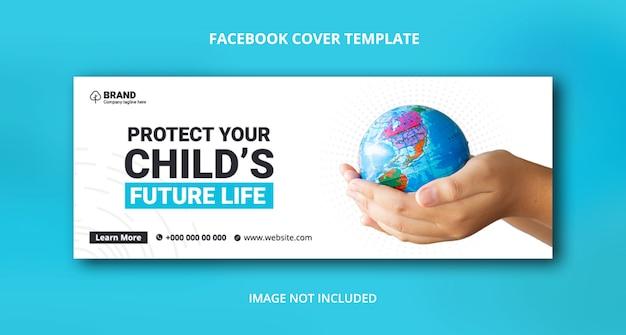 Sla de natuur facebook-omslagbannersjabloon op