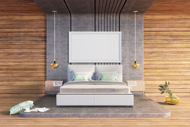 Slaapkamer in ruwe stijl