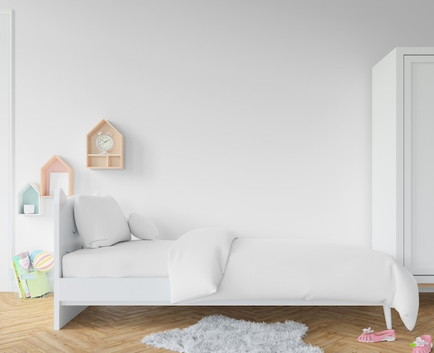 Slaapkamer met witte lakens