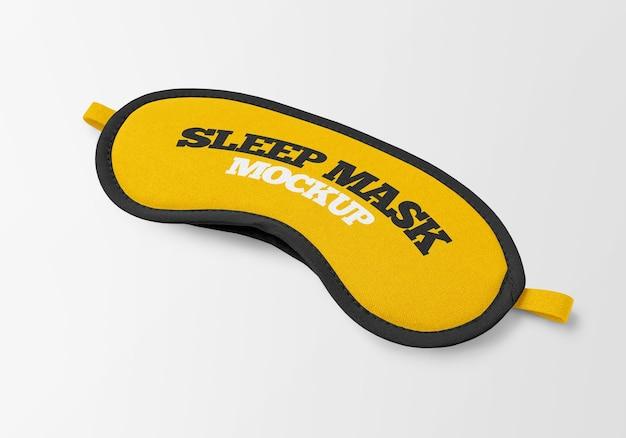 Slaapmasker mockup ontwerp