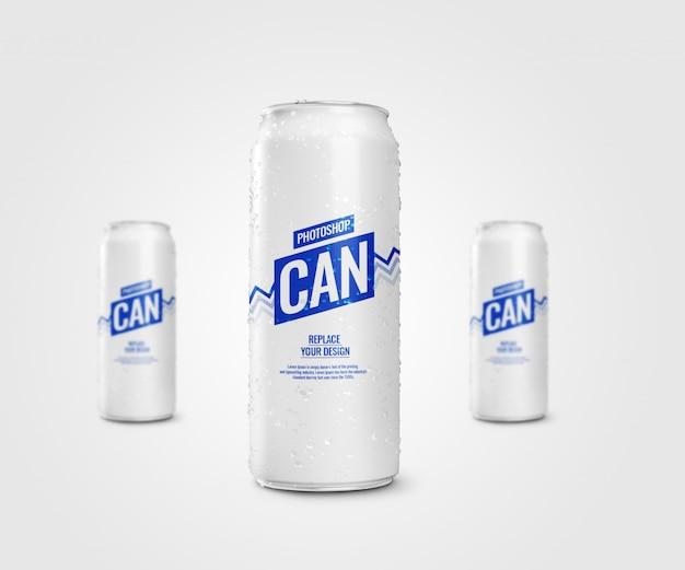 Slanke frisdrank kan mockup drinken