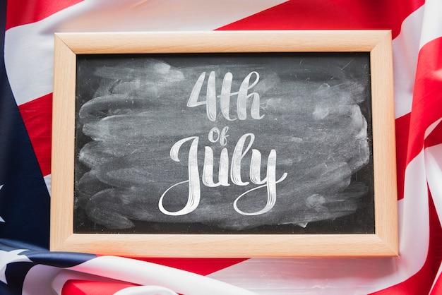 Slate mockup per il giorno dell'indipendenza degli stati uniti