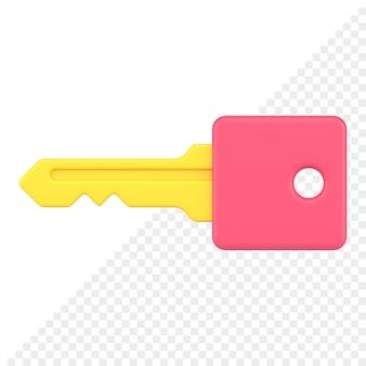 Sleutel 3d-pictogram