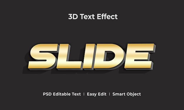 Slide 3d-tekststijleffectsjabloon