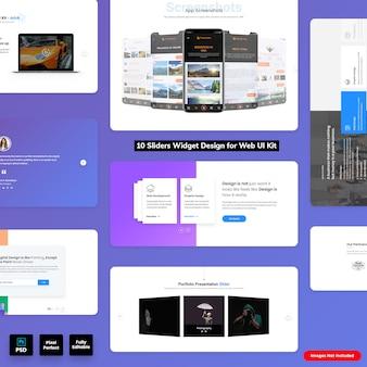 Sliders widgets design for web ui kit