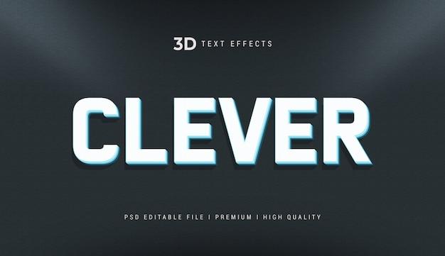 Slimme 3d-tekststijleffectmodel