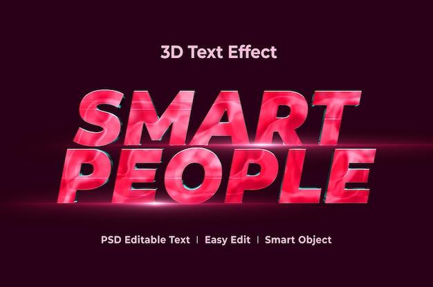 Slimme mensen 3d-teksteffect mockup-sjabloon