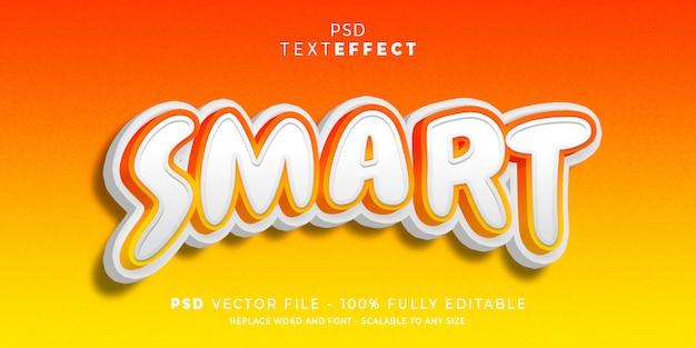 Slimme tekst en lettertype-effectstijl bewerkbare sjabloon premium
