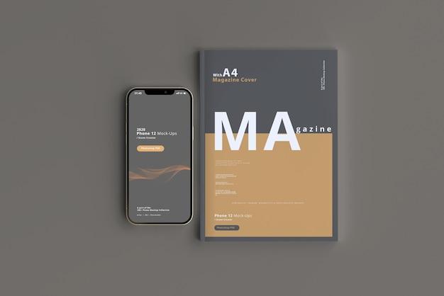 Slimme telefoonmodel met tijdschrift