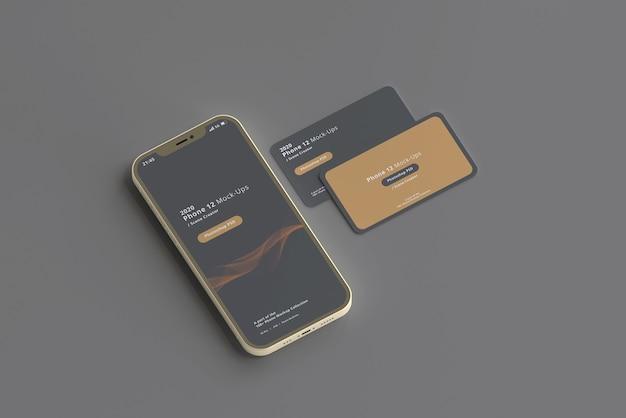 Slimme telefoonmodel met visitekaartjes