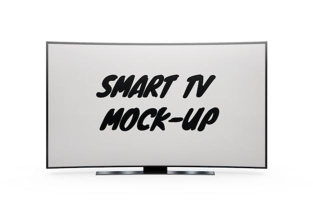 Slimme tv-mock-up geïsoleerd