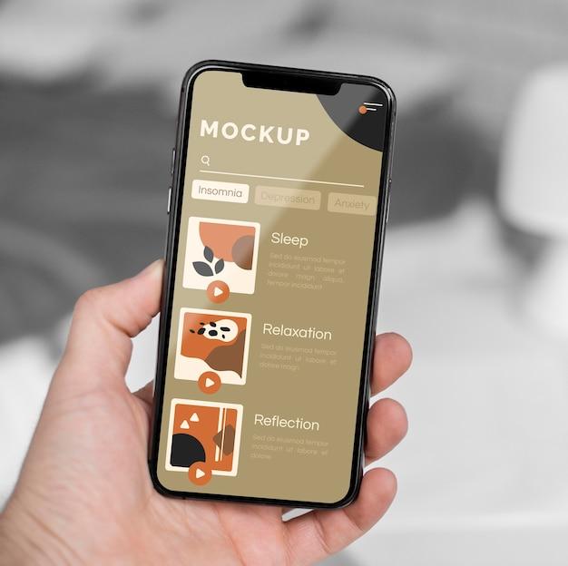 Sluit het mobiele scherm