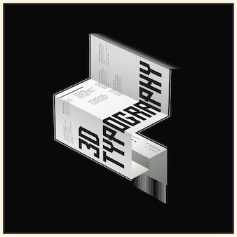 Sluit omhoog op 3d geïsoleerde typografie