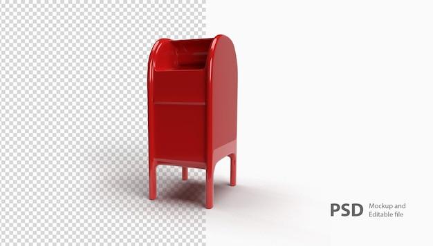 Sluit omhoog op brievenbus die in 3d-rendering wordt geïsoleerd