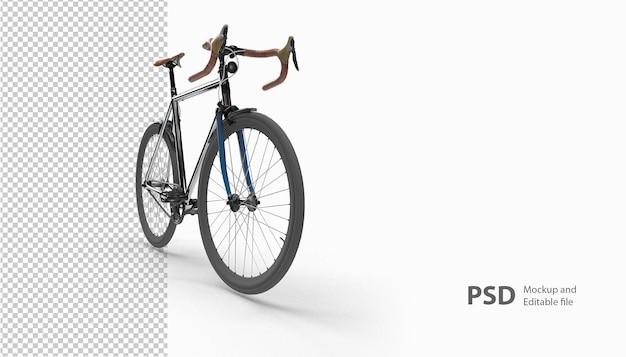 Sluit omhoog op de fiets in het geïsoleerde 3d teruggeven
