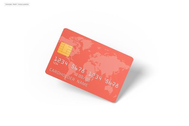 Sluit omhoog op geïsoleerd creditcardmodel