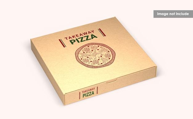 Sluit omhoog op geïsoleerd pizzadoosmodel