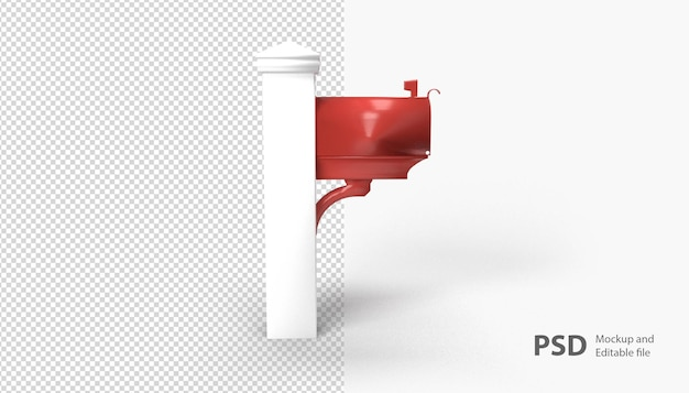 Sluit omhoog op geïsoleerde brievenbus