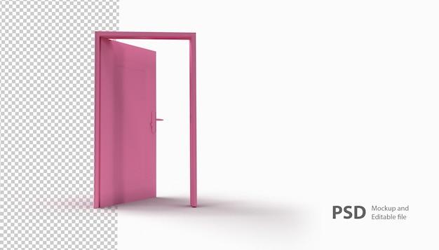 Sluit omhoog op geïsoleerde deur