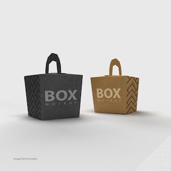 Sluit omhoog op geïsoleerde doosverpakking