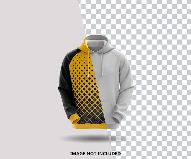Sluit omhoog op geïsoleerde hoodie mockup